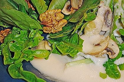 Feldsalat mit Meerrettich - Dressing 7