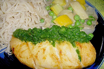 Baked Thai Red Curry Chicken with Coriander Chutney 4