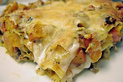 Kürbis - Lasagne 8