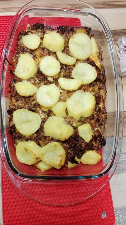 Kartoffel hack lauch auflauf