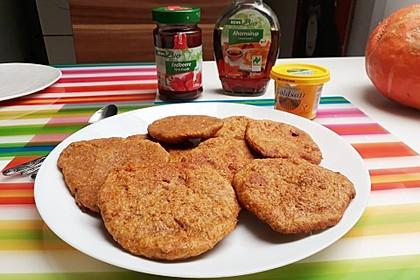 Gebackener Süßkartoffel-Teig aus der Pfanne, vegan