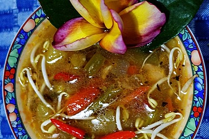 Scharfe Gemüsesuppe nach 'Taman Griya'-Art
