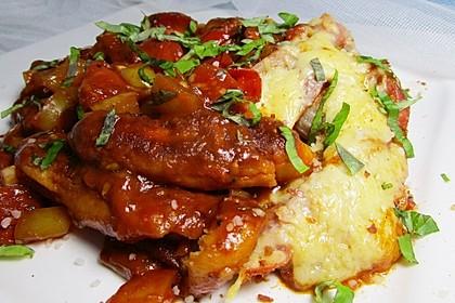 Schupfnudelauflauf mit Tomaten und Bacon überbacken 2