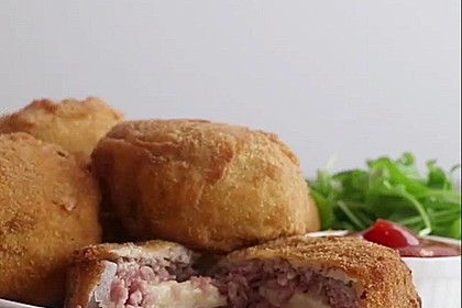 Cheeseburger Zwiebelringe