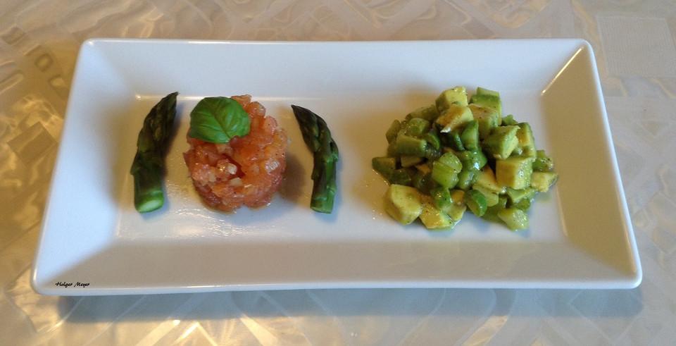 spargel avocado salat mit lachstatar von holgi007. Black Bedroom Furniture Sets. Home Design Ideas