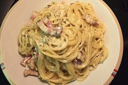 Spaghetti in Schinken-Sahne-Soße 3