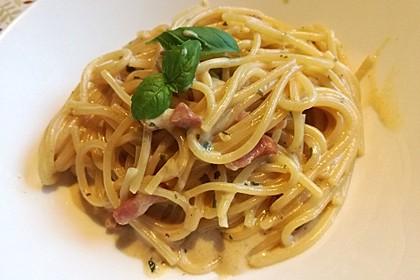 Spaghetti in Schinken-Sahne-Soße 2