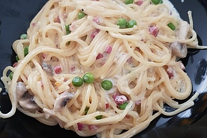 Spaghetti in Schinken-Sahne-Soße 26