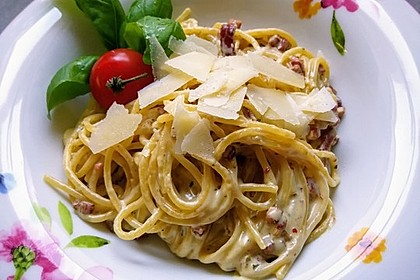 Spaghetti in Schinken-Sahne-Soße 5