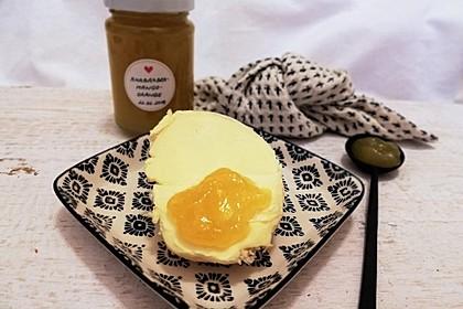 Rhabarber-Mango-Orangen-Konfitüre (Bild)