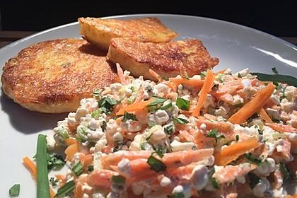 Kohlrabi-Piccata mit Gemüse-Kräuter-Frischkäse