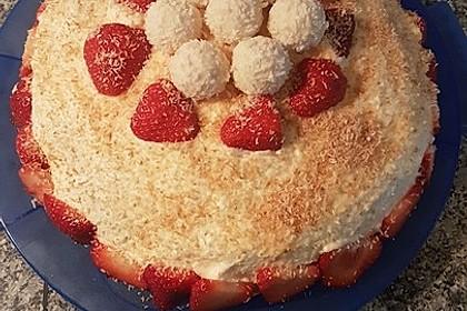 Raffaello-Erdbeer-Torte
