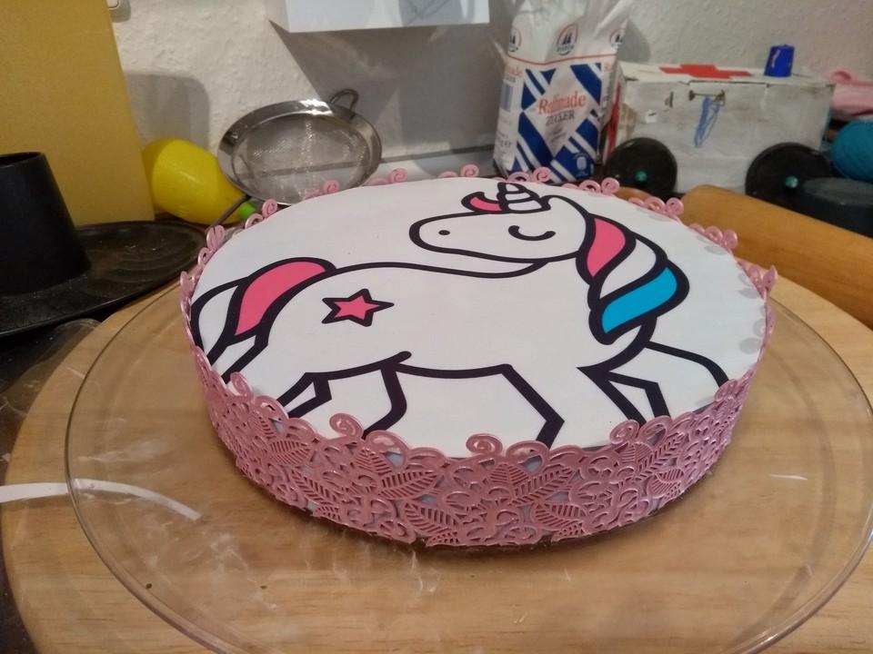 einhorn fondant torte 4