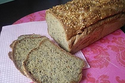 Low-Carb Brot mit Sojamehl und Flohsamenschalen