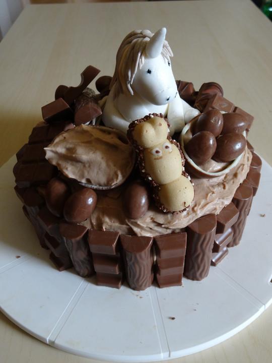 Einhorn Kinderschokoladen Torte Von Blubbernlaschen Chefkoch De