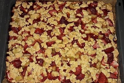 Rhabarber-Erdbeer-Kuchen mit Streuselteig 2