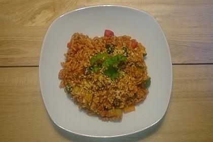 Vegane Zucchini-Paprika-Reispfanne 1