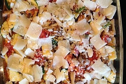 Bunter Gemüse-Tortellini-Auflauf