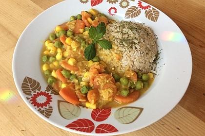 Süßlich-mildes rote-Linsen-Curry mit Gemüse