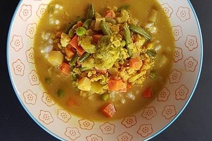 Süßlich-mildes rote-Linsen-Curry mit Gemüse 1