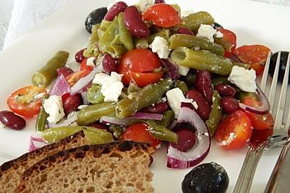 Bohnensalat mit Schafskäse 2