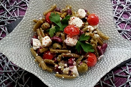 Bohnensalat mit Schafskäse 1