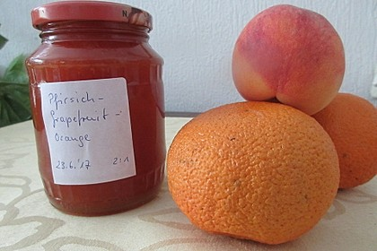 Pfirsich-Zitrusfrucht-Konfitüre (Bild)