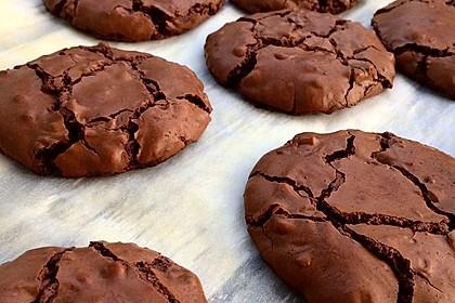 Schokoladen-Brownie-Cookies (Bild)