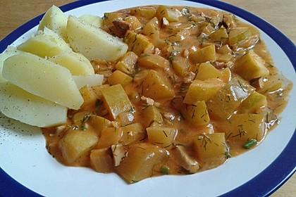 Schmorgurken vegan, vegetarisch oder mit Speck (Bild)