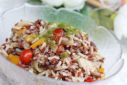 Edler Reissalat mit Fenchel