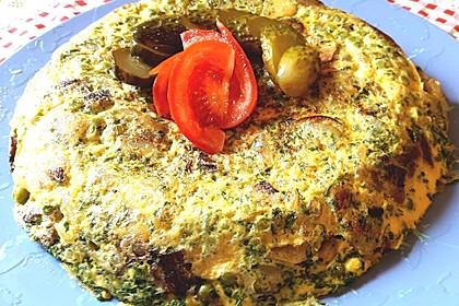 Omelette in der Wokpfanne