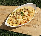 Kohlrabi-Apfel-Salat mit Curry-Dressing (Bild)