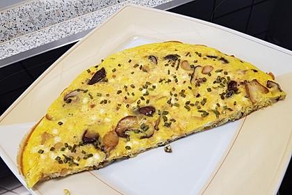 Asiatische Pilz-Omeletts (Bild)