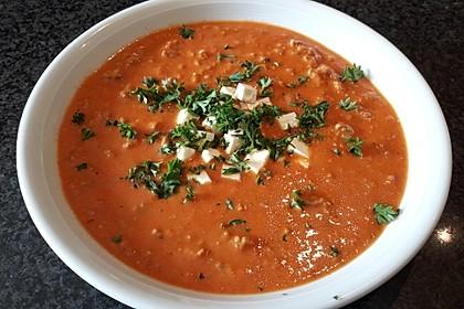 Paprika-Hackfleisch-Suppe mit Feta 3