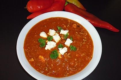Paprika-Hackfleisch-Suppe mit Feta 4