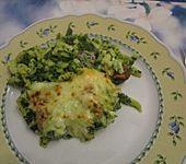 Spätzle-Spinat-Auflauf mit Mettwurst (Bild)