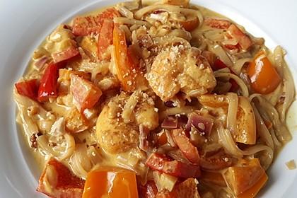 Garnelen-Curry mit Glasnudeln und Mango (Bild)