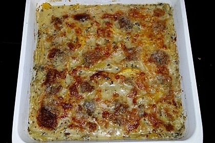 Zucchini Gratin mit Blauschimmelkäse