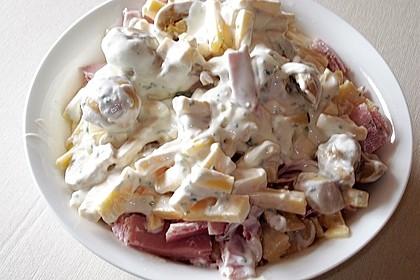 Käse, Champignon und Schinken-Salat à la Didi