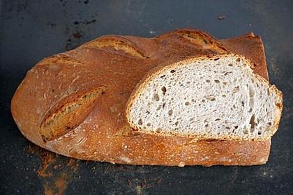 Französisches Körnerbrot mit Weizensauerteig (Bild)