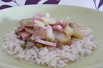 Kohlrabi - Topf mit Fleischwurst 1