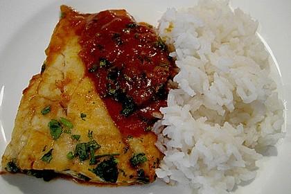 Curry-Bratfisch mit Koriander