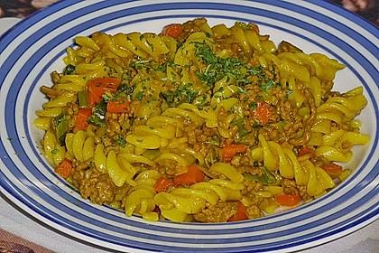 Curryrahmnudeln mit Hack 5
