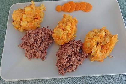 Möhren - Kartoffel - Gemüse mit Hausmacher Leberwurst 1