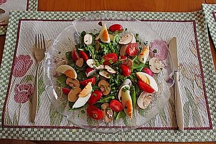 Frühlingssalat mit Bärlauch
