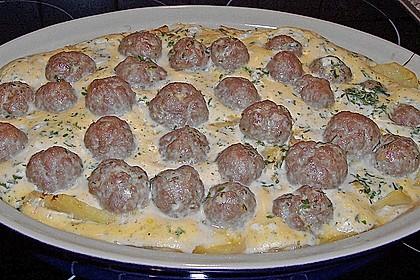 Bratwurstbällchen auf Sauerkraut 5