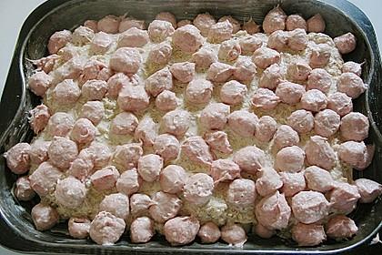 Bratwurstbällchen auf Sauerkraut 14