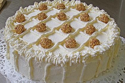 Giotto - Nuss - Torte mit Pfirsichen 1