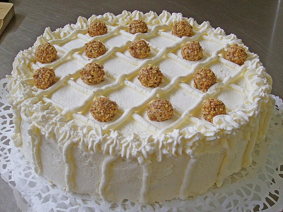 Giotto Nuss Torte Mit Pfirsichen Von Sina89 Chefkoch De