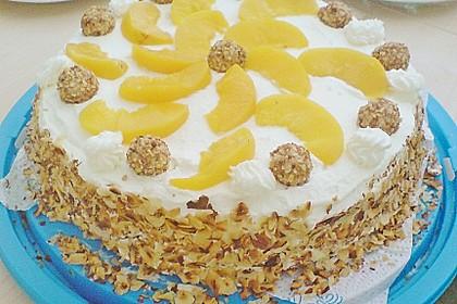 Giotto - Nuss - Torte mit Pfirsichen 10